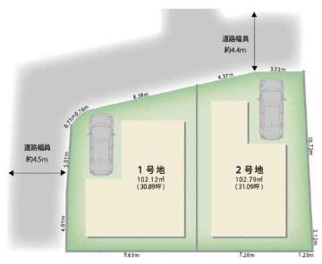 土地 神呪町 神呪町(2号地)土地